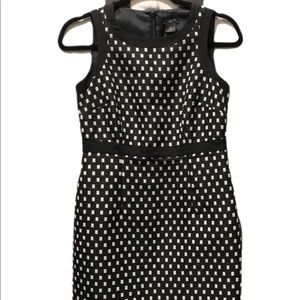 Ann Taylor Black and White Dress Like New!